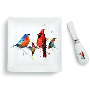 Big Sky Carvers Little Birds Plate & Spreader Set