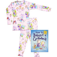 Books to Bed How to Babysit a Grandma Pajamas & Book Set