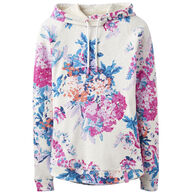 Joules Women's Marlston Print Hooded Sweatshirt