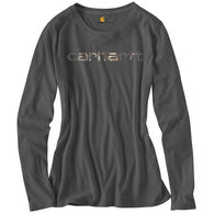 Carhartt Women's Camo Graphic Signature Long-Sleeve T-Shirt
