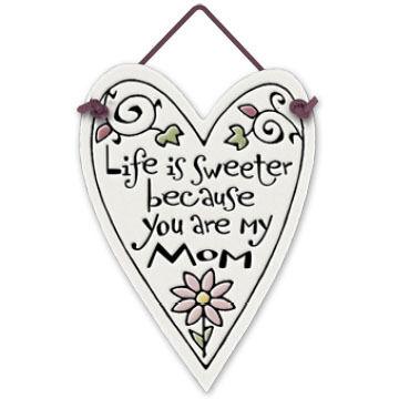 "Spooner Creek Designs ""My Mom"" Mini Charmers Heart Tile"