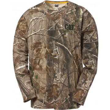 CAT Apparel Men's Camo Long-Sleeve Shirt