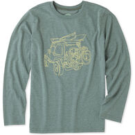 Life is Good Boys' Off-Road Outdoor Long-Sleeve Cool T-Shirt