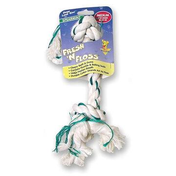Booda Fresh n Floss 2-Knot Rope Bone Dog Toy