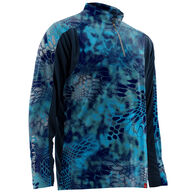 Huk Kryptek Trophy 1/4 Zip Mock Neck Long-Sleeve Fishing Shirt