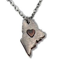Anju Jewelry Women's My Heart Belongs to Maine Necklace