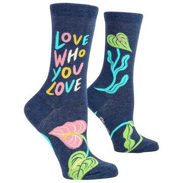 Blue Q Womens Love Who You Love Crew Sock