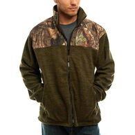 Trail Crest Men's Mossy Oak Full Zip C-Max Fleece Jacket