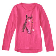 Carhartt Girls' Texture Horse Long-Sleeve T-Shirt