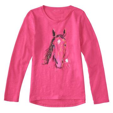Carhartt Girls Texture Horse Long-Sleeve T-Shirt
