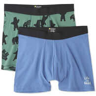 Life is Good Men's Bear Boxer Pack Boxer Brief Set