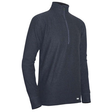 PolarMAX Boys & Girls Quattro Zip Mock Baselayer Top