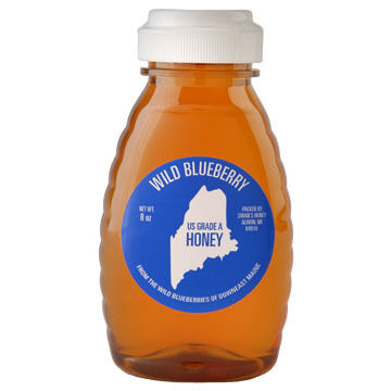 Swans Honey in Plastic Queenline Container - 8 oz.