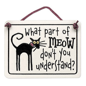 "Spooner Creek Designs ""What Part of Meow"" Mini Charmer Tile"