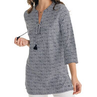 Southern Tide Women's Haley Intercoastal Long-Sleeve Tunic Top