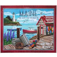 Maine Scene Jigsaw Puzzle - Fishing Village