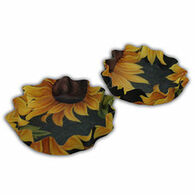 Andreas Decorative Pansies Lillie Pad Coaster