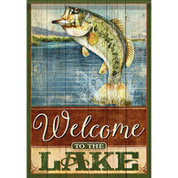 Carson Home Accents Flagtrends Welcome To The Lake Garden Flag