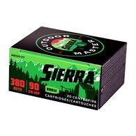 Sierra Bullets Outdoor Master 380 Auto 90 Grain JHP Handgun Ammo (20)