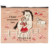 Blue Q Women's I Hate Everyone Too Zipper Pouch