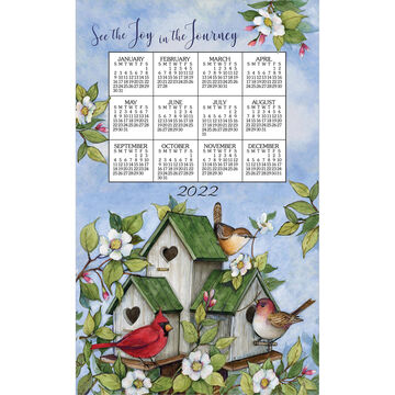 Kay Dee Designs 2022 Birdhouses Calendar Towel