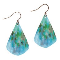 Illustrated Lights Women's DC Designs Watercolor Teardrop  Earring