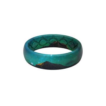 Groove Life Womens Aspire Aurora Thin Silicone Ring