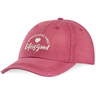 Life is Good Women's Good Vibes Heart Sunwashed Chill Cap