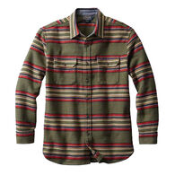 Pendleton Men's Blanket Stripe Cotton Flannel Long-Sleeve Overshirt
