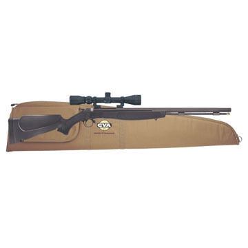 CVA Wolf 50 Cal. 209 Magnum Break-Action Blued / Black Muzzleloader Outfit