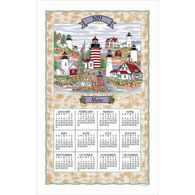 Kay Dee Designs 2021 Maine Lighthouse Collage Calendar Towel