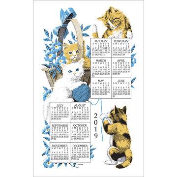 Kay Dee Designs 2019 Curious Kittens Calendar Towel