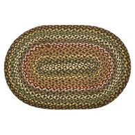 Capitol Earth Oval Fir/Ivory Braided Rug
