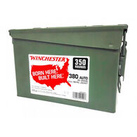 Winchester Born Here. Built Here. 380 Auto 95 Grain FMJ Ammo Can (350)