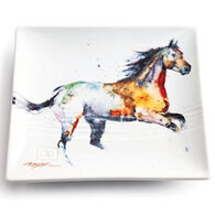 Big Sky Carvers Running Horse Snack Plate