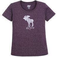 Lakeshirts Women's Blue 84 Portland Moose Maine Short-Sleeve T-Shirt