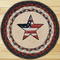 "Capitol Earth Americana Star 10"" Round Braided Rug"