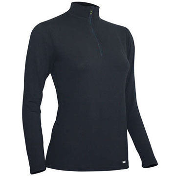 PolarMAX Women's 4-Way Stretch Zip Mock Turtleneck