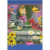 Carson Home Accents Birdbath Meeting Garden Flag