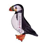 Bobbo Puffin In Profile Window Thermometer