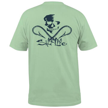 Salt Life Mens Skull & Hooks Pocket Short-Sleeve T-Shirt