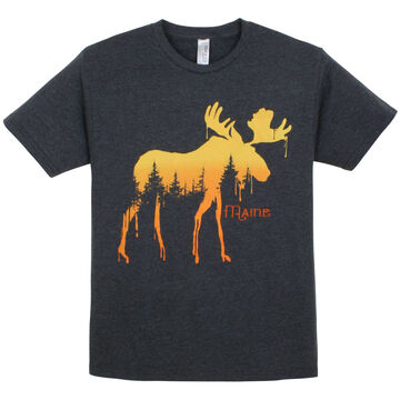 The Duck Co. Mens Pine Drip Moose Short-Sleeve T-Shirt