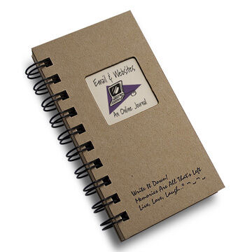 """Journals Unlimited """"Write it Down!"""" Mini-Size E-mail & Websites Journal"""