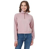 tentree Women's 1/4-Zip Fleece Sweatshirt