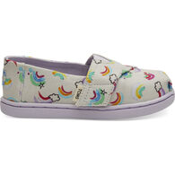 TOMS Boys' & Girls' Tiny TOMS Jumping Rainbows Classic Shoe