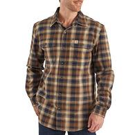 Carhartt Men's Big & Tall Hubbard Plaid Flannel Long-Sleeve Shirt