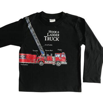 Spudz Toddler Boys Firetruck Long-Sleeve T-Shirt