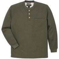 Oscar Sports Men's Waffle-Knit Sherpa-Lined Henley Long-Sleeve Shirt