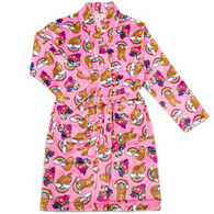 Candy Pink Girl's Sloth Fleece Robe