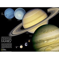 The Solar System: 2 Sided (Tubed) by National Geographic Maps